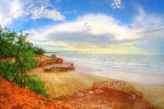 Ландшафт на скалах Dripstone, северные территории захода солнца, Австралия Стоковая Фотография