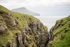 Ландшафт на Фарерских островах Стоковые Фотографии RF