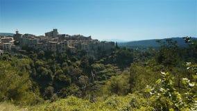 Ландшафт на Col de Vence в южной Франции акции видеоматериалы