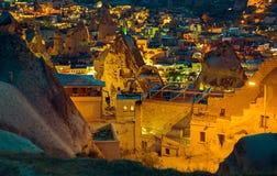 Ландшафт на GOREME Cappadocia Турции Стоковое Изображение