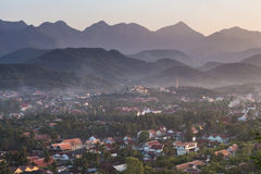 Ландшафт на prabang luang, Лаосе Стоковая Фотография RF