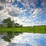 Ландшафт неба озера воды природы спокойный стоковая фотография rf
