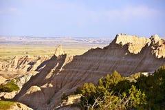 Ландшафт неплодородных почв сырцовый Стоковые Изображения