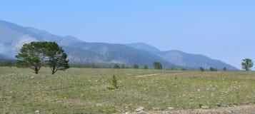 Ландшафт низких гор Стоковые Изображения