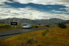 Ландшафт Новая Зеландия - южный остров - различные дороги NZ Стоковое Изображение