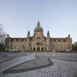 Ландшафт новой ратуши в Ганновере, Германии Стоковая Фотография