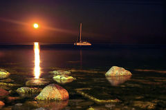Ландшафт ночи Стоковое Изображение RF