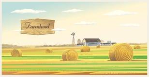 Ландшафт обрабатываемой земли осени Стоковое Изображение RF