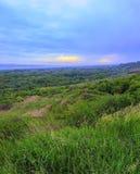 Ландшафт облачного неба и древесины ниже Стоковое фото RF