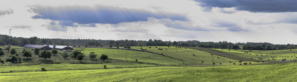 Ландшафт Огайо панорамный стоковое фото