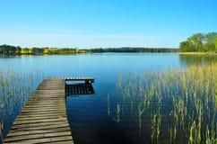 Ландшафт озера в Mazuria Стоковые Изображения RF