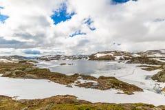 Ландшафт озера горы Норвегии Стоковое Изображение RF