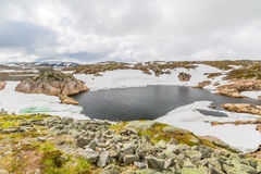 Ландшафт озера горы Норвегии Стоковые Фото