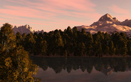 Ландшафт озера гор Стоковое Фото