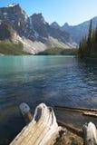 Ландшафт озера морен альбатроса Канада стоковая фотография rf