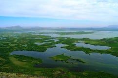 Ландшафт озера Myvatn стоковое изображение