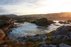 Ландшафт океана в Испании Стоковые Изображения RF