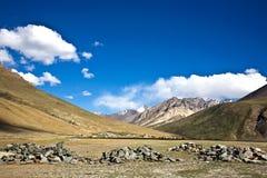 Ландшафт около монастыря Rangdum, долины Zanskar, Ladakh, Джамму и Кашмир, Индии Стоковое фото RF
