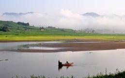 Ландшафт около озера Songhua Стоковая Фотография RF