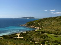 Ландшафт около Villasimius, Сардинии, Италии Стоковое Фото