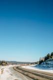 Ландшафт дороги с горой Стоковые Фотографии RF