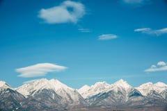 Ландшафт дороги с горой Стоковые Изображения RF