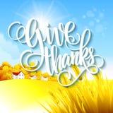 Ландшафт осени благодарения также вектор иллюстрации притяжки corel Стоковые Фотографии RF