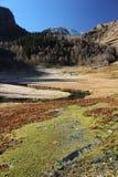 Ландшафт осени в горах Кавказа Стоковое Изображение RF