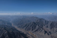 Ландшафт осени в долинах горы Стоковое Фото