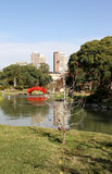 Ландшафт осени в саде японца города. Стоковые Изображения