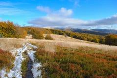 Ландшафт осени горы панорамы Стоковые Изображения RF