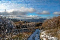 Ландшафт осени горы панорамы Стоковые Фотографии RF