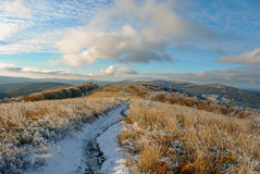Ландшафт осени горы панорамы Стоковое фото RF