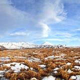 Ландшафт осени зимы от Исландии стоковая фотография rf