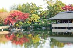 Ландшафт осени на японском саде Стоковое Изображение RF