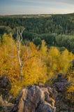 Ландшафт осени, долина в чехии Стоковое Изображение