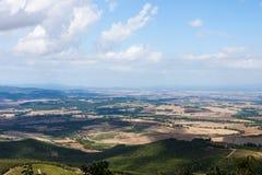 Ландшафт осени Тосканы стоковые фотографии rf