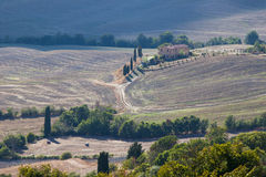 Ландшафт осени Тосканы стоковые изображения