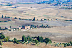 Ландшафт осени Тосканы стоковое изображение