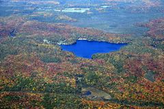 Ландшафт осени Muskoka, воздушный Стоковые Фото