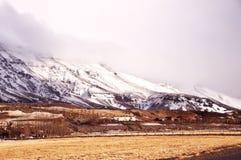 Ландшафт осени Wintrer от Исландии стоковые изображения