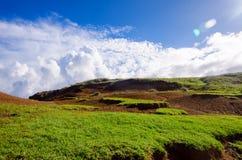 Ландшафт острова пасхи Стоковые Фото