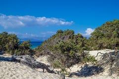 Ландшафт острова Chrisi стоковое изображение rf