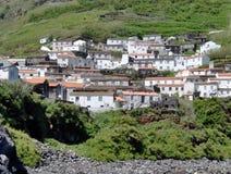 Ландшафт острова Corvo Азорские островы, Португалия Стоковое Изображение