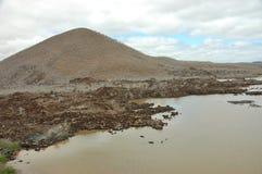 Ландшафт острова Floreana. Стоковое Изображение RF