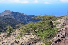 Ландшафт острова Gomera Ла, Canaries Стоковые Изображения RF