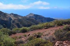Ландшафт острова Gomera Ла, Canaries Стоковые Фотографии RF