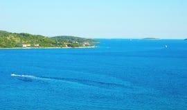 Ландшафт острова Prvic Стоковые Изображения RF
