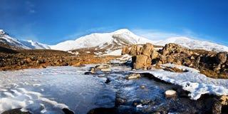 Ландшафт от Исландии. Пропускать реки. коэффициент 1x2 стоковое фото rf
