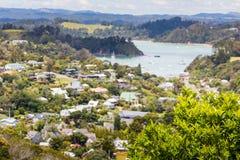 Ландшафт от Рассела около Paihia, залива островов, Новой Зеландии Стоковые Изображения RF